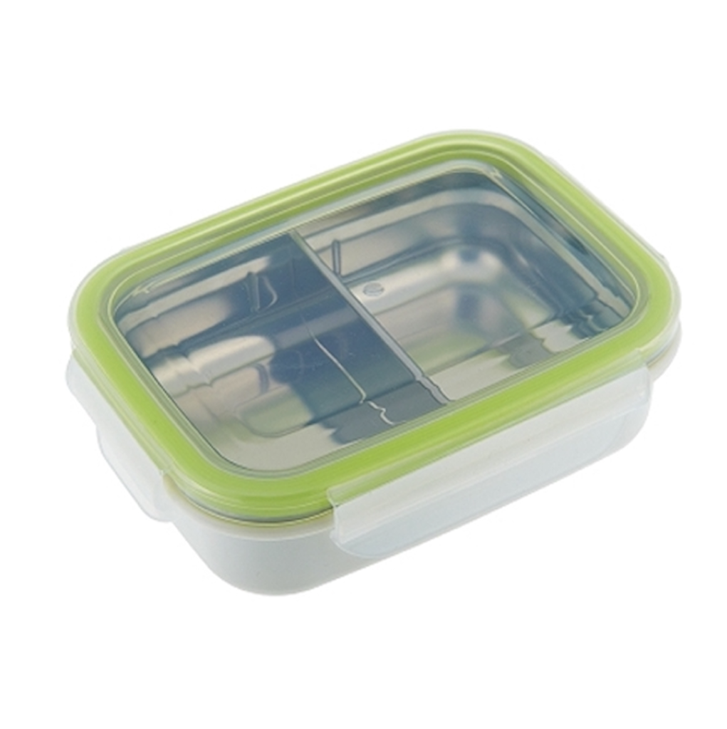 Innobaby - Keepin' Fresh Kids Stainless Divided 11oz Bento - Green