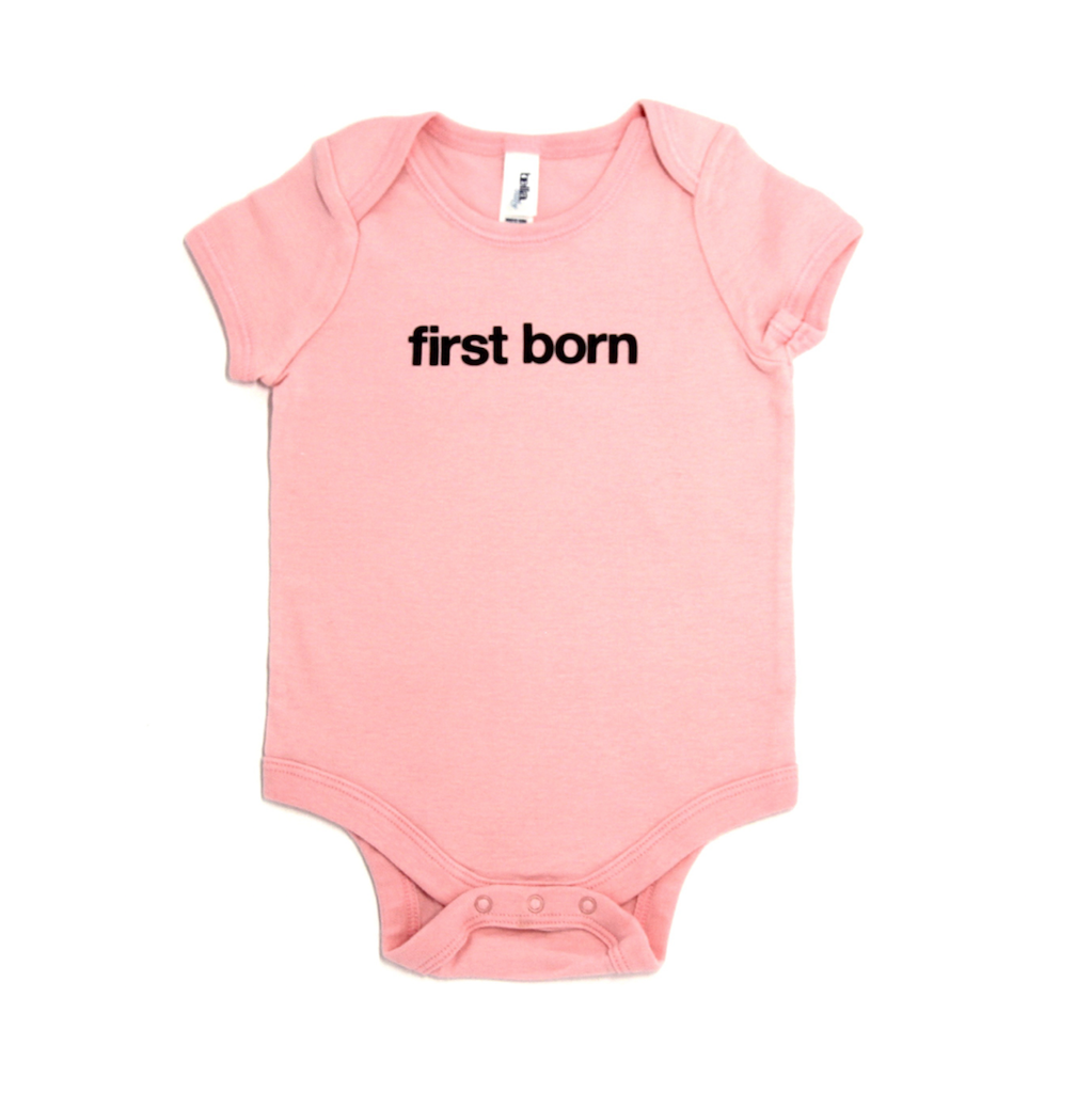Snugfits - Twins-Triplets Onesie - 3 Colours - First Born - Along Came Baby, Ltd - 2