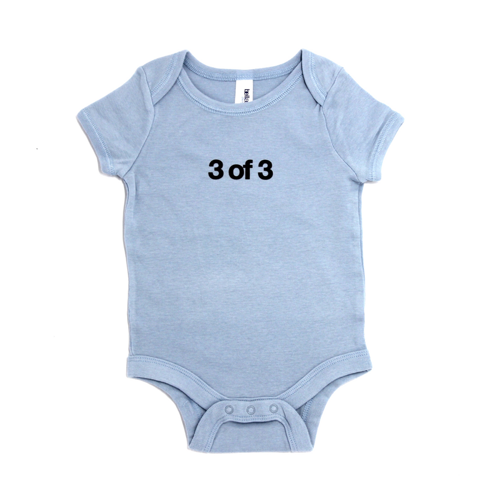 Snugfits - Triplets Onesie - 3 Colours - 3 of 3 - Along Came Baby, Ltd - 2