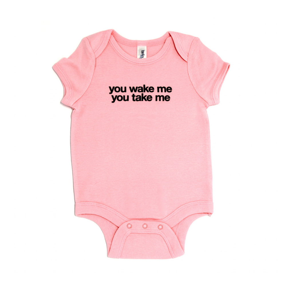 Snugfits - Onesie - 3 Colours - You Wake Me You Take Me - Along Came Baby, Ltd - 1