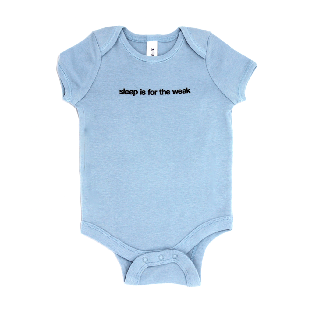 Snugfits - Onesie - 3 Colours - Sleep is for the Weak - Along Came Baby, Ltd - 2