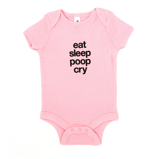 Snugfits - Onesie - 3 Colours - Eat, Sleep, Poop, Cry - Along Came Baby, Ltd - 1