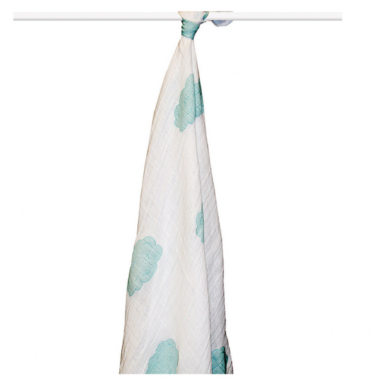 aden + anais - Organic Swaddling Blanket - Single - Sky Blue - Along Came Baby, Ltd - 1