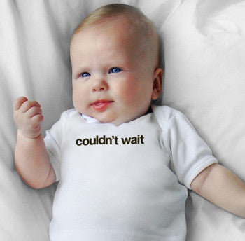 Snugfits - Preemie Onesie - 3 Colours - Couldn't Wait - Along Came Baby, Ltd