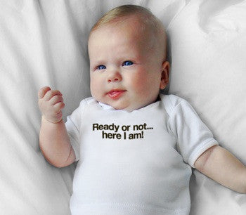 Snugfits - Preemie Onesie - 3 Colours - Ready or not...here I am! - Along Came Baby, Ltd