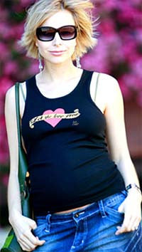 2 chix Maternity Tank - Let the Love Grow - Along Came Baby, Ltd