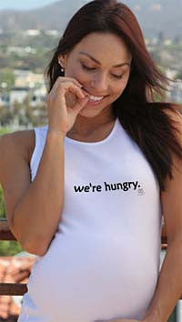 2 chix Maternity Tank - We're Hungry - Along Came Baby, Ltd