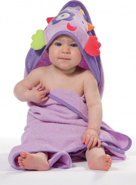 Baby Fehn - Hooded Towel - Purple Dream - Along Came Baby, Ltd - 3
