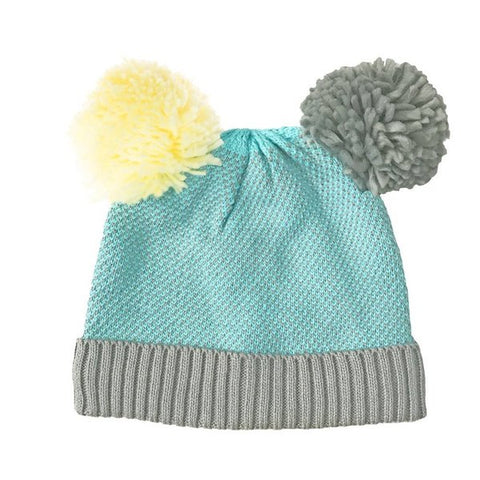 Double Bobble Hat 3-6 years