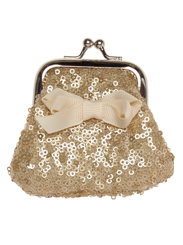 Gold Sequin Clasp Purse