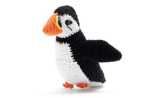Crochet Puffin Rattle