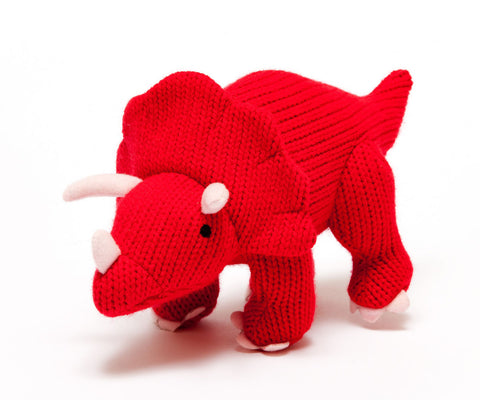 Medium Knitted Triceratops