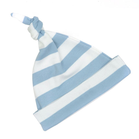 Sky Blue & White Breton Striped Hat