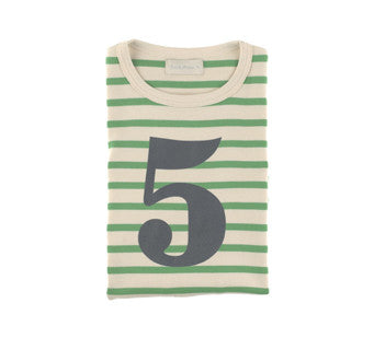 Gooseberry & Cream Breton Striped Number 5 T Shirt
