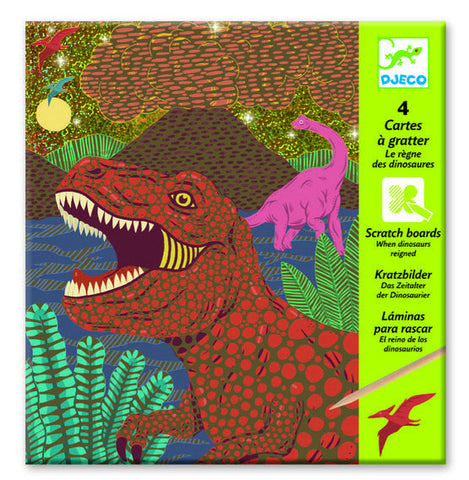 When Dinosaurs Reigned - Scratch Boards