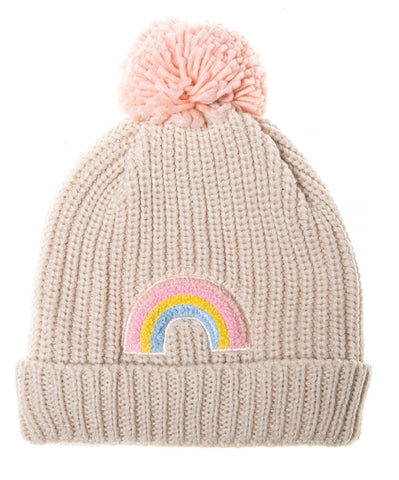 Dreamy Rainbow Knit Bobble Hat
