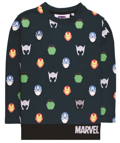 Avengers All Over Print Character Long Sleeve T-Shirt
