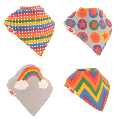 Bandana Dribble Bib Rainbow Colours 4pk