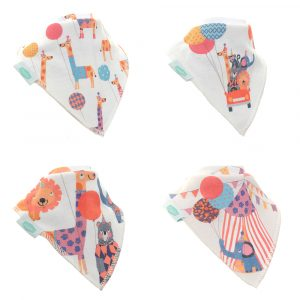 Big Day Out by Stop the Clock Designs 4pk Bib Set