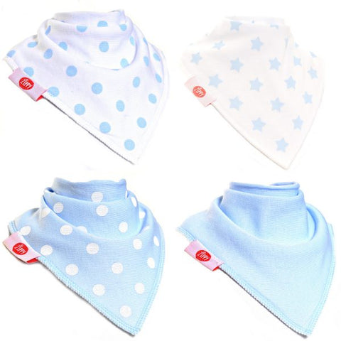 Bandana Dribble Bib Blue White 4pk