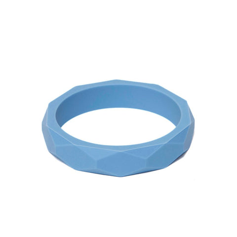 Silicone Teething Bangle - Soft Blue