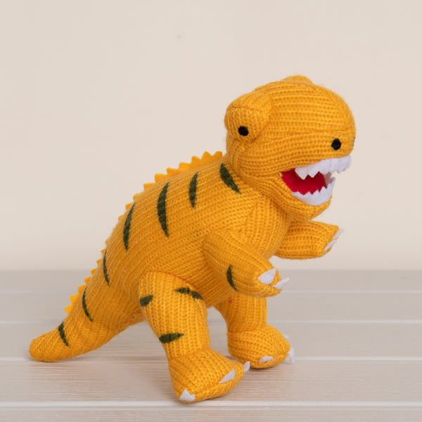Mini T-Rex Rattle - Yellow