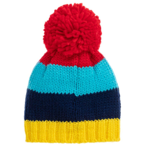 Bright Stripe Bobble Hat