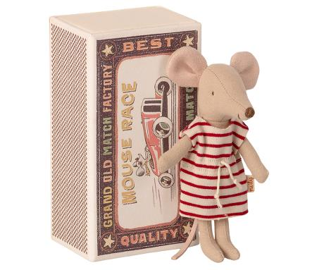 Big Sister Mouse in Box - red dress