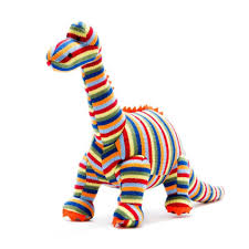 Medium Stripy Knitted Diplodocus