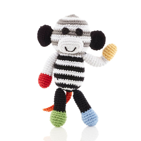 Black/White Monkey Rattle