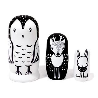 Woodland - Set of 3 Nesting Dolls