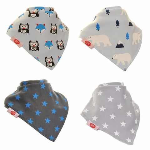Bandana Dribble Bib Arctic Animals 4pk