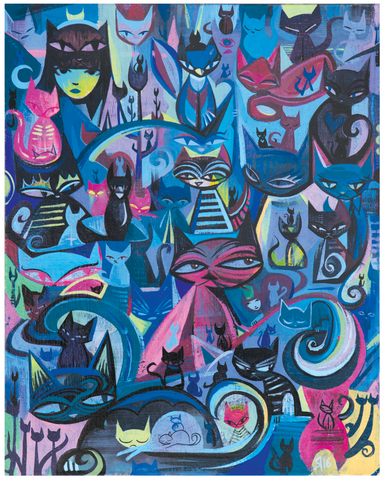 100 Cats (Emily the Strange) 11x14 Giclee Print