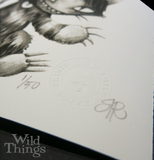 Wild Things (Emily the Strange) 8x20 Giclee Print