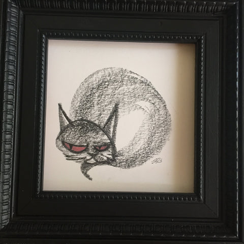 Stoner Cat original graphite drawing