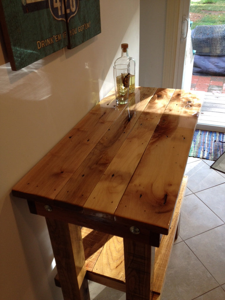 custom size bar top table made  from reclaimed pallets with  -  custom size bar top table made  from reclaimed pallets with epoxytop