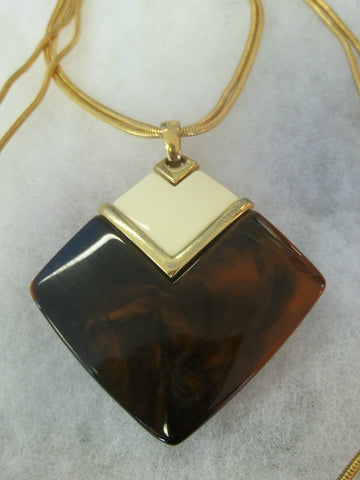 Vintage Trifari Lucite Necklace Pendant Runway Couture BEAUTIFUL Lanvin Era