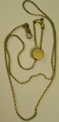 Antique Victorian Necklace Slide Watch Muff Chain