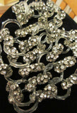 Vintage  Art Deco French Jewelry Rhinestone Glass Crystal Necklace 1930s Rare