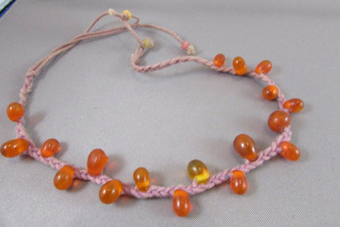 Vintage Carnelian Necklace Chinese Estate