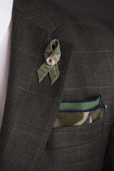 Army MSG (Ret.) Max Mullen Pocket Square- Woodland