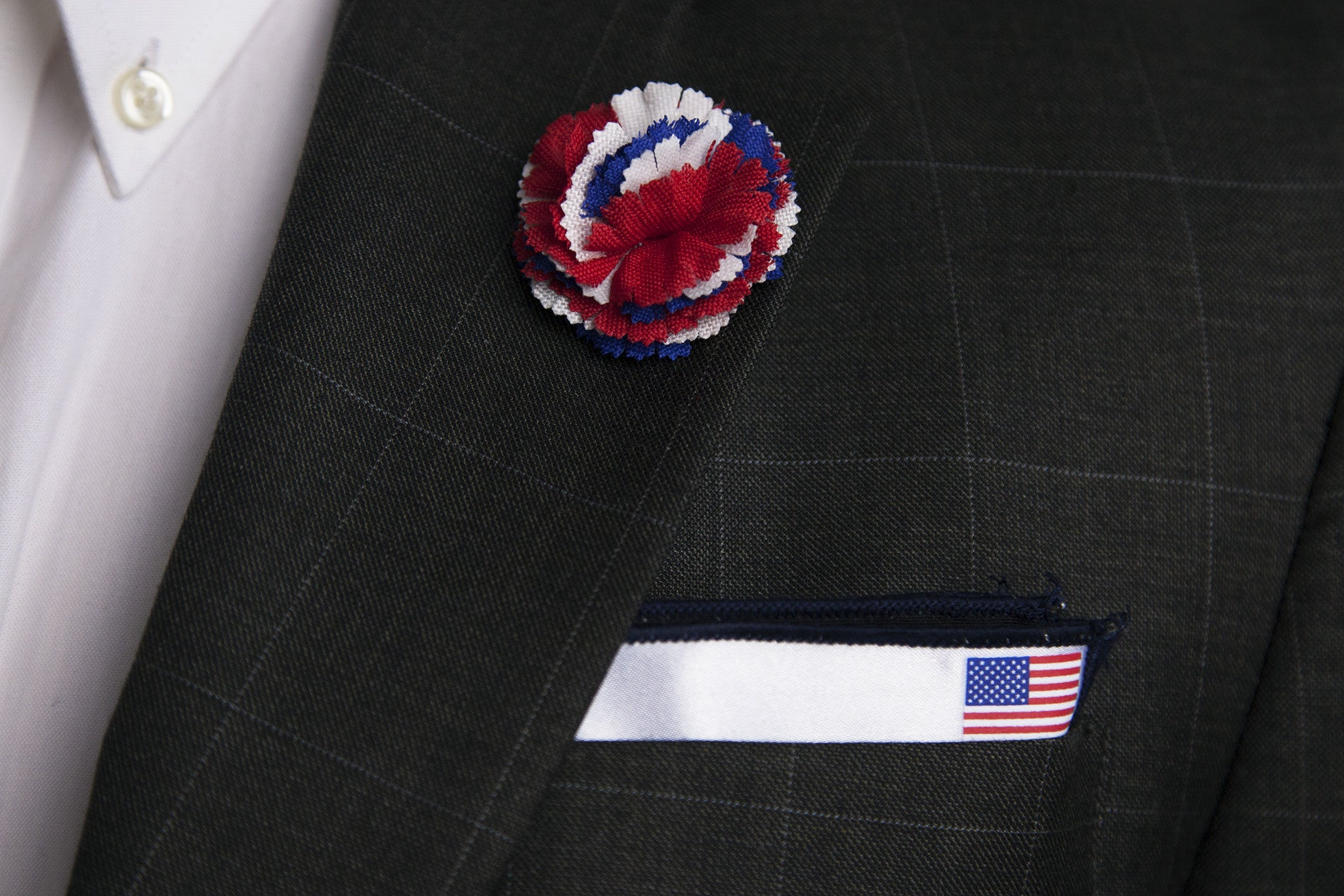 Red, White, and Blue Lapel Flower
