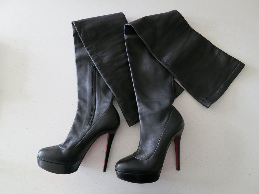 a13ea84f961 Christian Louboutin Gazolina 140mm Boots Brown