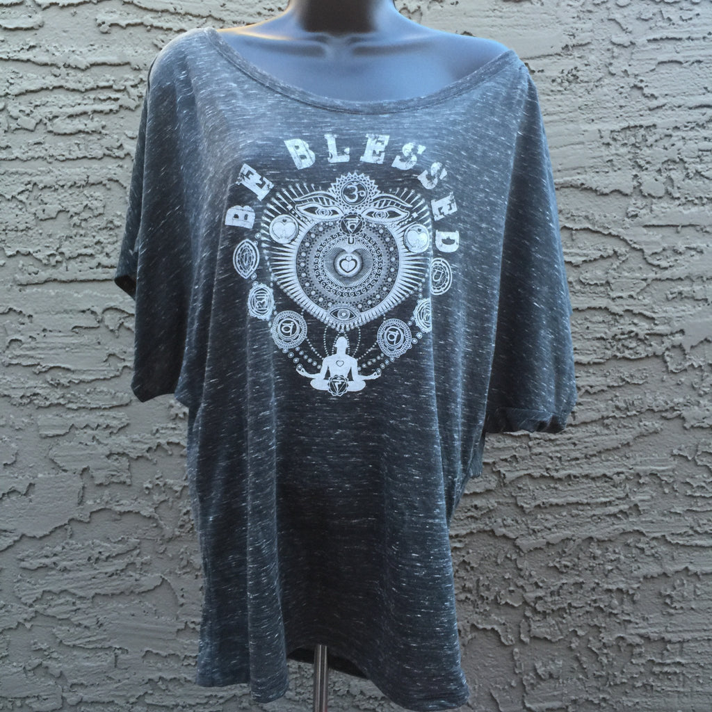 "Be Blessed ""Love Energy"" • RobbyZen - Women's Flowey Draped Sleeve Dolman Tee"
