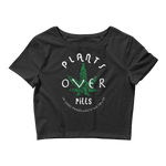 PLANTS OVER PILLS - Women's Crop Tee • RobbyZEN