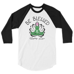 BE BLESSED BUDDHA FROGGY • RobbyZEN - 3/4 SLEEVE RAGLAN SHIRT