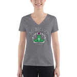Be Blessed Buddha Froggy • RobbyZEN - Women's Fashion Deep V-neck Tee