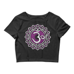 Om Crown Chakra • Good Vibes - Women's Crop Tee • RobbyZEN