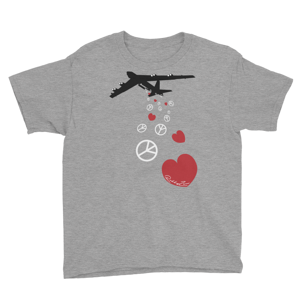 B52 - Bombing for Love and Peace • RobbyZen - Youth Short Sleeve T-Shirt