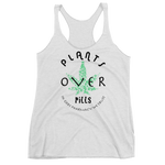 PLANTS OVER PILLS - Women's Racerback Tank • RobbyZEN